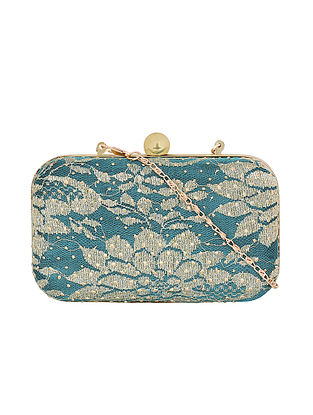 Blue-Gold Handcrafted Sling Bag