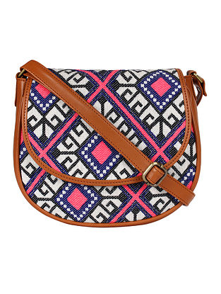 Multicolored Handcrafted Jacquard Sling Bag