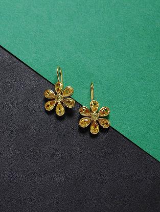 Yellow Gold Tone Silver Earrings