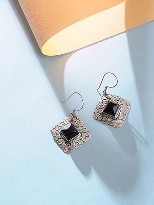 Black Onyx Silver Earrings