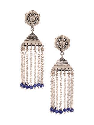 Lapis Lazuli Silver Jhumkis