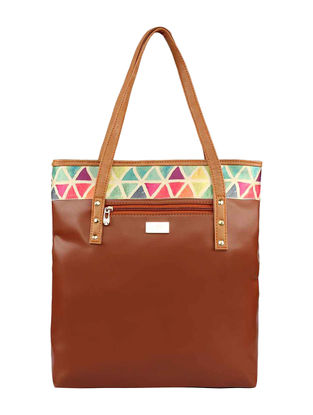 Brown-Multicolor Tote