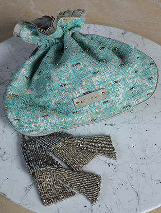 Turquoise Handcrafted Potli