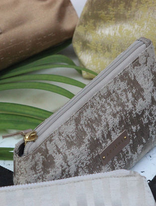 Beige Handcrafted Pouch