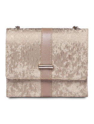 Beige Handcrafted Clutch