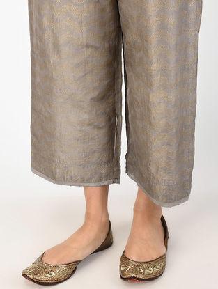 Kashish Natural-dyed Khari-printed Mulberry Silk Pants