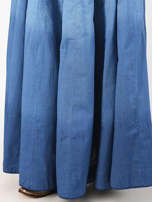 Indigo Natural-dyed Khari-printed Cotton Skirt