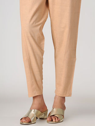 Peach Natural-dyed Elasticated Waist Malkha Pants