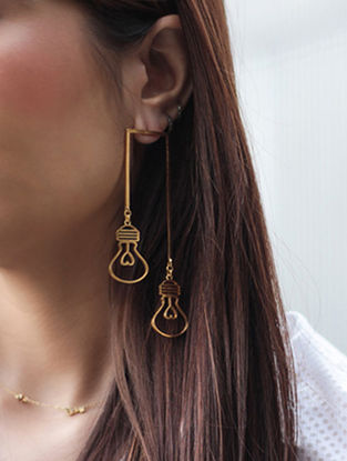 Illuminate Lamp Post Gold-plated Earrings