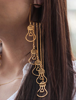 Classic Gold-plated Bulb Earrings