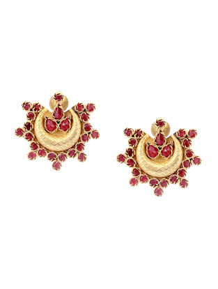 Spinel Gold-plated Silver Earrings