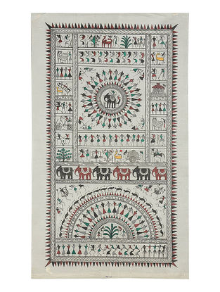 Various Types of Tribal Art Pattachitra on Silk 20.6in x 12in