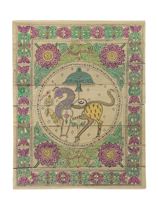 Nabagunzar Pattachitra on Palm Leaf 10.5in x 8.2in