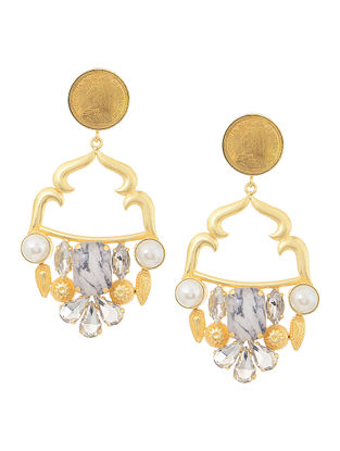 Gold Tone Earrings with Coin Design