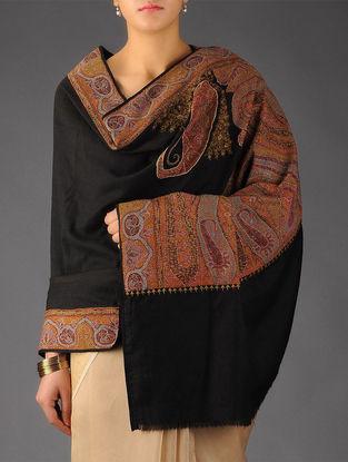 Kashmir 1840s Jamawar Border Haft Palledar Hand Woven Pashmina Shawl by Aditi Collection