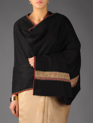 Kashmir Pashmina 1830s Hand Woven Jamawar Border Shawl by Aditi Collection
