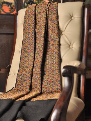 Irani Termeh 1970s Paisley Shawl in Wool By Aditi Collection