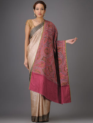 Kashmir 1840s  Sikh Period Jamawar Pashmina Shawl By Aditi Collection
