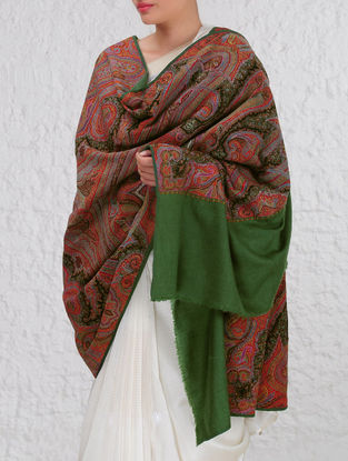 Kashmir 1840s Dogra Period Intricate Jamawar Pashmina Shawl By Aditi Collection