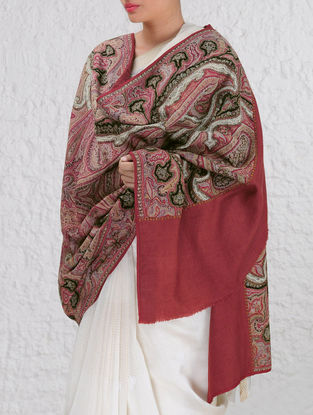 Intricate Dogra Kashmir 1850s Jamawar Pashmina Shawl By Aditi Collection