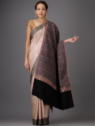 Exquisite Kashmir Handwoven Fine Paisley Design 1820's Vintage Pashmina Jamawar Shawl