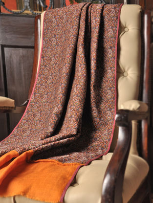 Haseena 1970s Iranian Wool And Silk Shawl With Pashmina Pallas by Aditi Collection