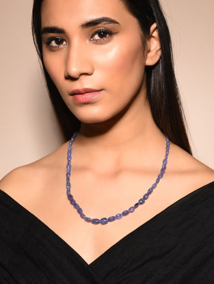 Tanzanite Beaded Necklace