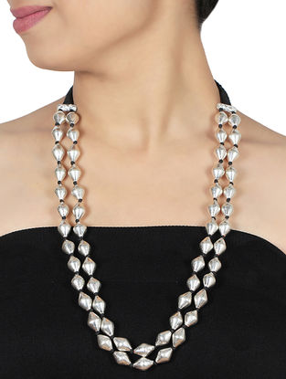 Classic Silver Bead Necklace