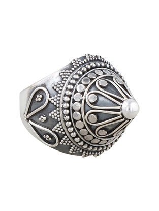 Tribal Silver Ring(Ring Size- 1.3)