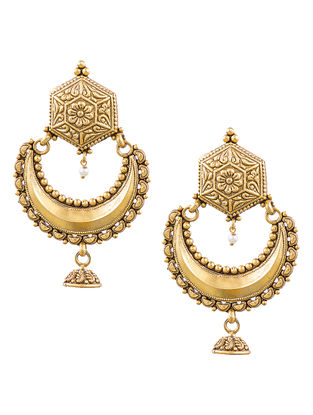 Gold-plated Silver Earrings with Floral Motif