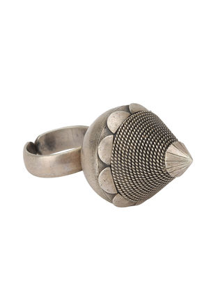 Tribal Adjustable Sterling Silver Ring