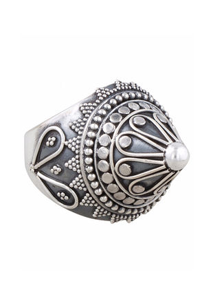 Tribal Sterling Adjustable Silver Ring
