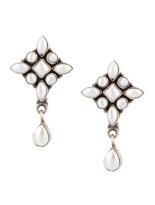Mother of Pearl Sterling Silver Earrings