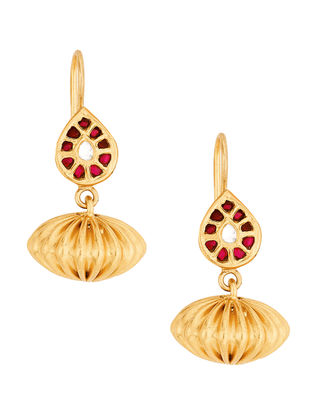 Pink Gold-plated Sterling Silver Earrings
