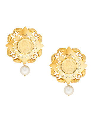 Pearl Gold-plated Sterling Silver Earrings