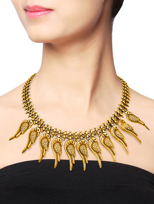 Gold-plated Sterling Silver Necklace with Bird Design