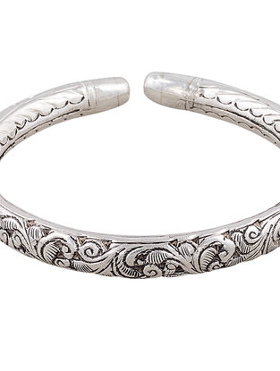 Tribal Sterling Silver Cuff with Floral Motif