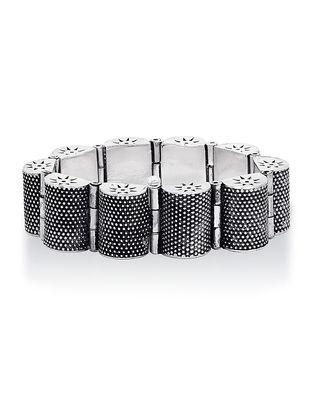 Hinged Opening Tribal Sterling Silver Bracelet