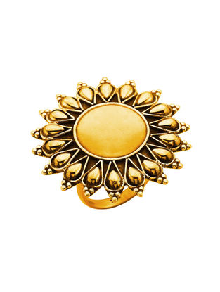 Gold-plated Adjustable Sterling Silver Ring