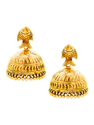 Gold-plated Sterling Silver Jhumkis