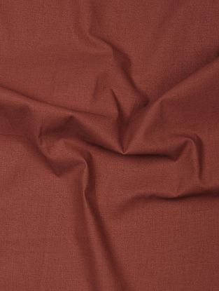 Maroon Herbal-dyed Cotton Fabric