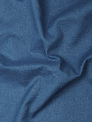 Blue Herbal-dyed Cotton Fabric