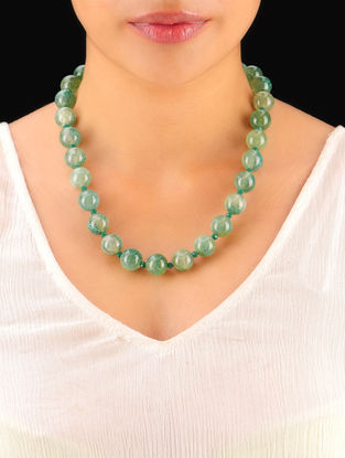 Jade Green Hand Beaded Necklace