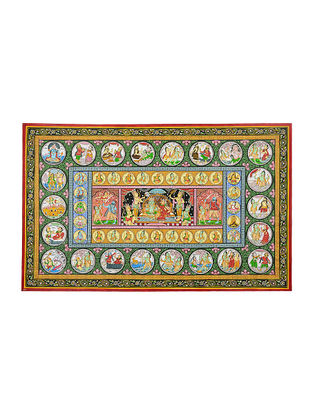 Ramayan Pattachitra Artwork on Canvas- 25in x 40in