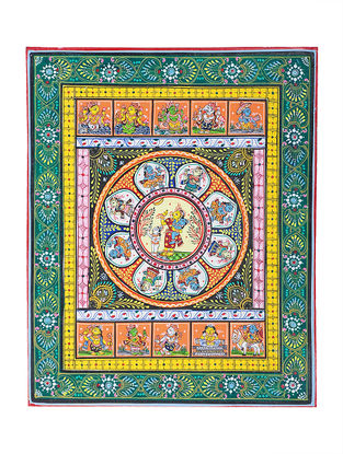 Dasa Avataar Pattachitra Artwork on Canvas- 11in x 9in