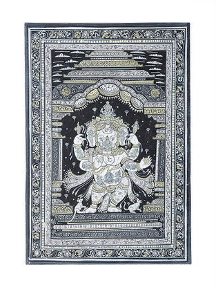 Ganesh Pattachitra Artwork on Canvas- 19in x 13in
