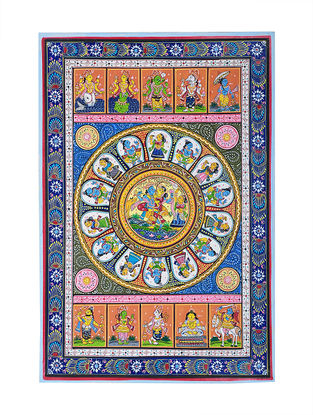 Dasa Avataar Pattachitra Artwork on Canvas- 19in x 13in