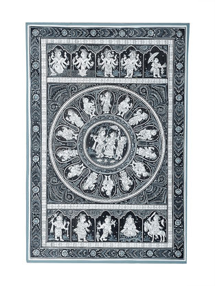 Pattachitra Artwork on Canvas- 18.5in x 13in