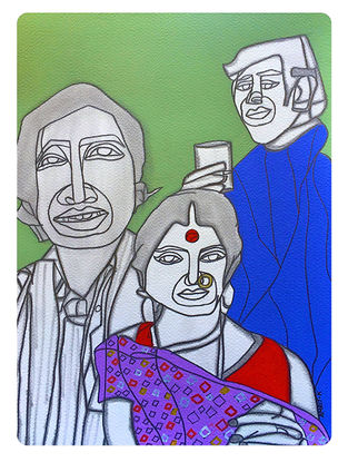 Limited Edition Amar Prem on Paper - 15in x 11.5in