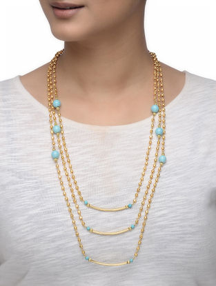 Turquoise Gold-plated Silver Necklace